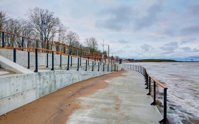 Sillamae rannapromenaadi ehitustööd
